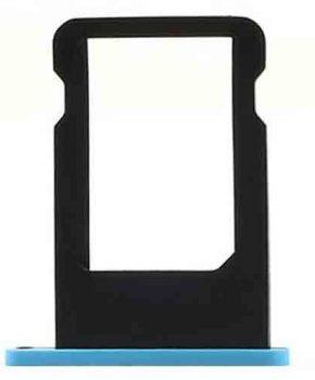 Simkaart houder voor iPhone 5c - blauw