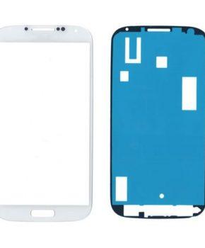 Samsung Galaxy S4 i9500 glas/scherm/display met sticker - wit