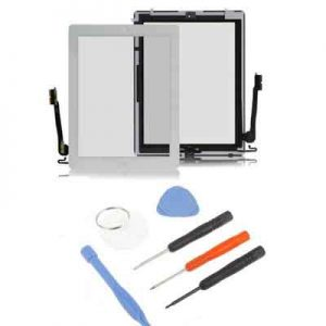 iPad 4 scherm digitizer glas touchscreen wit