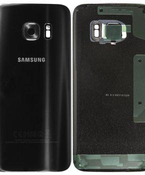 Samsung Galaxy S7 Batterij Cover Zwart - originele kwaliteit + lens