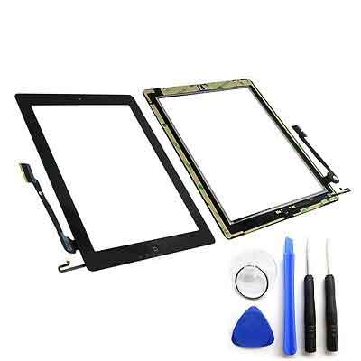 iPad 4 scherm digitizer glas touchscreen Zwart