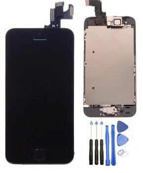 Volledig gemonteerde iphone 5s LCD - zwart - met homebutton