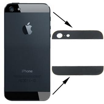 Iphone 5s -SE achterkant glas setje compleet - zwart