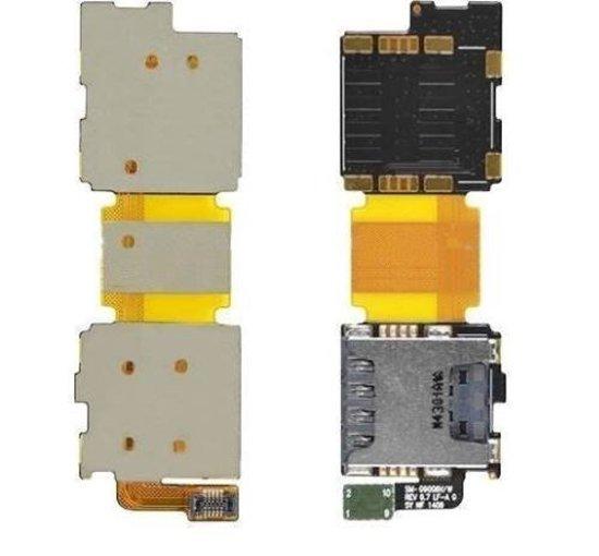 Samsung Galaxy S5 Simkaart Tray SD Card Lezer flexkabel