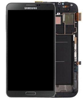 Samsung Note 3 scherm inclusief frame - zwart