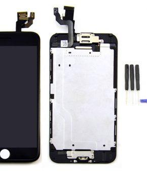 iphone 6 scherm incl alle onderdelen voorgemonteerd  - zwart - AA+
