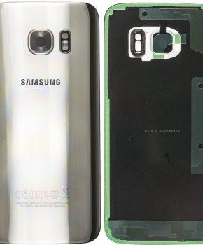 Samsung Galaxy S7 Batterij Cover Zilver - originele kwaliteit met camera lens