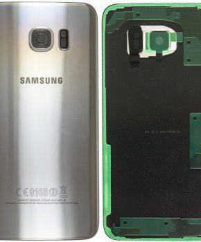 Samsung Galaxy S7 Edge Batterij Cover Zilver - originele kwaliteit - met camera lens+ cover