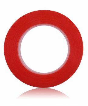 dubbelzijdige montage tape 33 meter x 3mm - rood