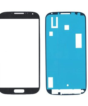 Samsung Galaxy S4 i9500 glas/scherm/display met sticker - zwart
