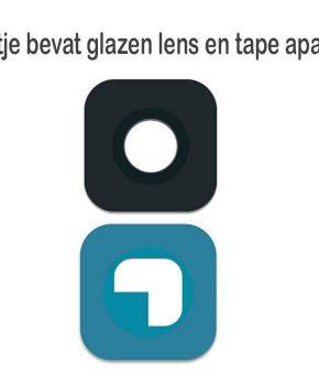 Voor Samsung S6 / S6 Edge camera lens glas - zwart