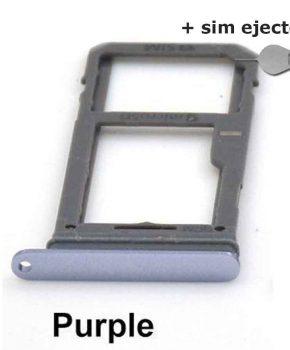 Simkaart houder/ Micro SD Kaart voor Samsung Galaxy S8 - Purple + deco pin-sim ejector
