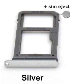Simkaart houder/ Micro SD Kaart voor Samsung Galaxy S8 - Zilver + deco pin-sim ejector