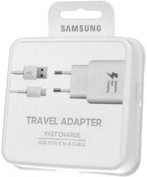 Voor Samsung Galaxy S8- S9 USB-C Adaptive Snellader kleur : WIT