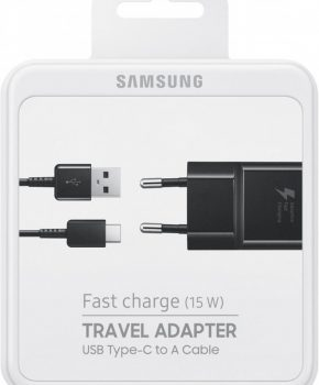 Voor Samsung Galaxy S8- S9 USB-C Adaptive Snellader kleur : ZWART