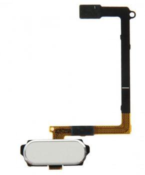 Voor Samsung Galaxy S6 - G920F - Home Button compleet module flex - Wit