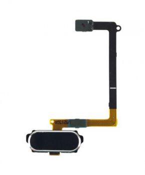 Voor Samsung Galaxy S6 - G920F - Home Button compleet module flex - zwart