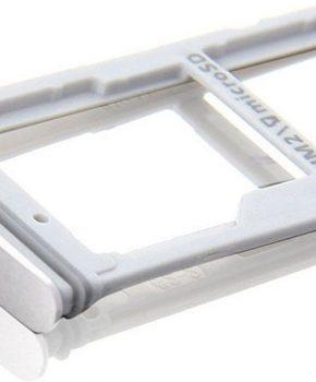Voor Samsung Galaxy S7 Edge G935 SIM card houder Slot Micro SD kaart houder - Zilver