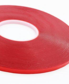 dubbelzijdige montage tape 33 meter x 6mm - rood