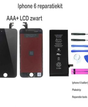 Iphone 6 LCD reparatie en upgrade kit voor de Beginner - Zwart