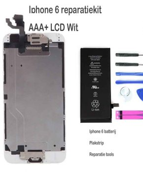 Iphone 6 LCD reparatie en upgrade kit voor de Beginner - Wit