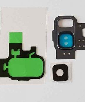 Voor Samsung Galaxy S9 camera ring cover met lens en 3M tape - Purple