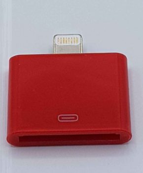 30 Pins Naar 8 Pins Adapter - Voor Ipad / iPhone - Rood