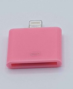 30 Pins 8 Pin Adapter - Voor Ipad / iPhone - Roze