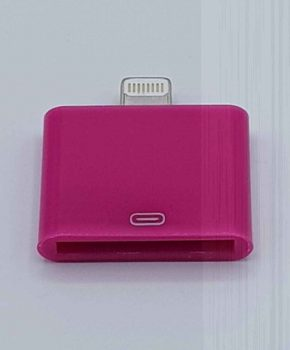 30 Pins Naar Lightning compatible (8 Pin) Kabel Adapter - Voor Ipad / iPhone - Fuchsia