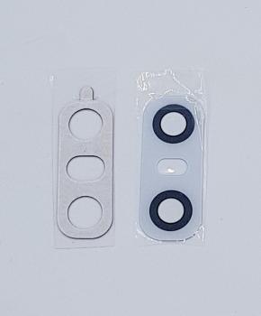 Achter camera Glas Lens geschikt voor de LG G6 - Wit - inclusief tape