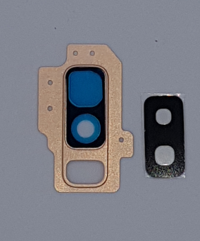 Voor Samsung Galaxy S9 Plus Camera glas Lens met Cover - Goud