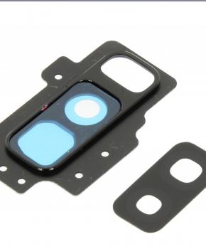 Voor Samsung Galaxy S9 Plus Camera glas Lens met Cover - zwart