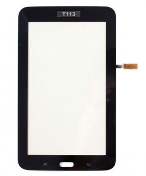 Touchscreen geschikt voor de Samsung Galaxy Tab 3 Lite SM-T113 - Zwart