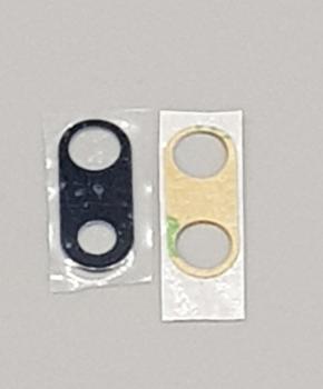 Voor IPhone 7/8 PLUS achter camera lens glas + tape - zwart