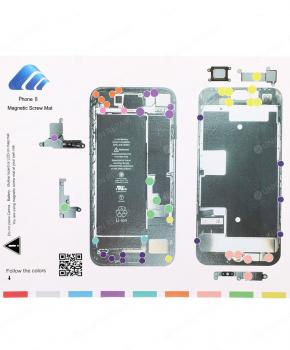 Magnetische schroeven mat - voor iPhone 8