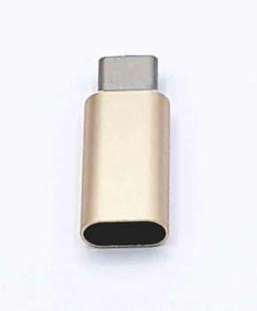8 Pins Female naar Type C Male USB Adapter - Goud