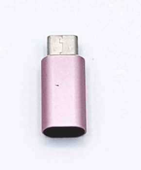 8 Pins Female naar Type C Male USB Adapter - Roze
