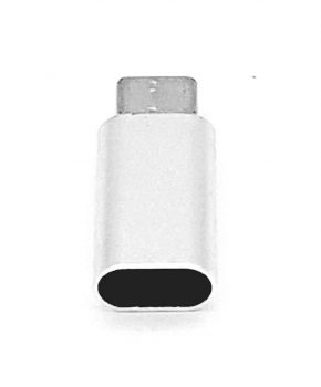 8 Pins Female naar Type C Male USB Adapter - Zilver