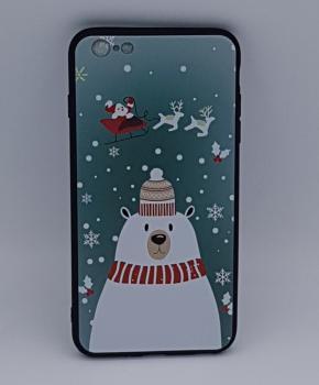 iPhone 6 / 6S  hoesje  - kerst - ijsbeer met muts