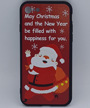 iPhone 7 hoesje  - kerst - kerstman happiness