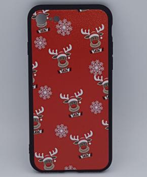 iPhone 7 hoesje  - kerst - Rudolf rednose - rood