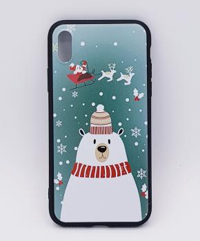 iPhone X  hoesje  - kerst - ijsbeer met muts