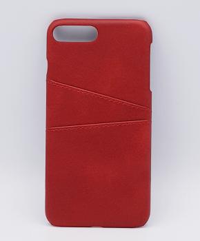 Voor IPhone 7/8 - kunstlederen back cover / wallet rood