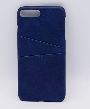 Voor IPhone 7/8 - kunstlederen back cover / wallet - blauw