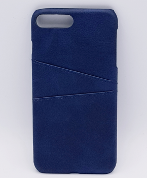 Voor IPhone 7  - kunstlederen back cover / wallet - blauw