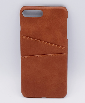 Voor IPhone 6 Plus - kunstlederen back cover / wallet bruin