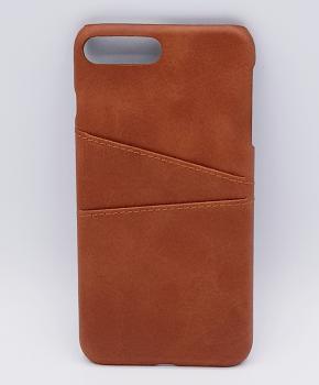 Voor IPhone 7 - kunstlederen back cover / wallet bruin