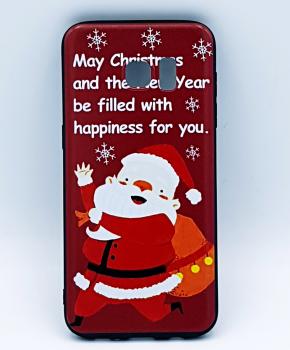 Voor Samsung S7 Edge hoesje - kerst - kerstman happiness