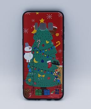 Voor Samsung S8 hoesje  - kerst - kerstboom tafereel