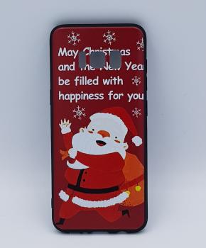 Voor Samsung S8 hoesje  - kerst - kerstman happiness